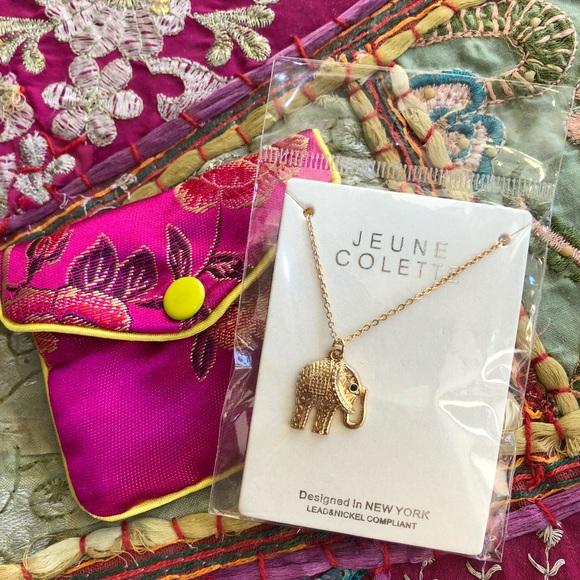 Little elephant good luck charm necklace  Boutique